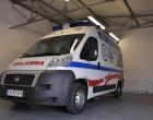 Fiat Ducato - ambulans, widok z przodu.